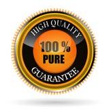 Tag puro de 100% ilustração stock