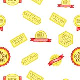 Tag quality pattern, cartoon style Stock Image