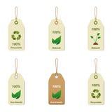 Tag Recyclable e naturais Imagem de Stock