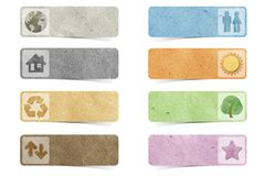 Tag recycled paper craft Royalty Free Stock Photography