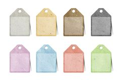 Tag recycled paper craft Royalty Free Stock Photos