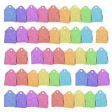 Tag recycled paper craft Royalty Free Stock Image