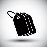 Tag retail theme vector simple single color icon. Stock Image