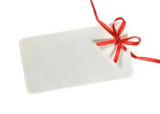 Tag with Ribbon. Ready for your message Stock Photo