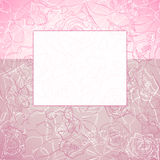 Tag on the rose background Royalty Free Stock Photo