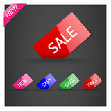 Tag sale. Set of tag sale.eps10 Royalty Free Stock Photos