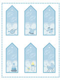 Tag set for baby boy Stock Photography