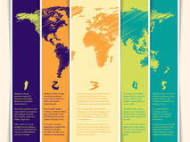 Tag set with scribbled world map Stock Photography