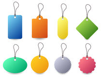 Tag Set Vector. A set of colorful tag with different type of color and shape Royalty Free Stock Photo