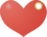 Tag in the shape of heart Stock Photo