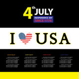 Tag for sign  independence day Stock Photos
