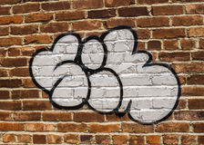 A Tag. Some graffiti found in a back alley in Chickasha Royalty Free Stock Image