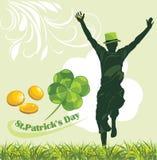 Tag St. Patricks. Feiertagsfahne Lizenzfreies Stockbild