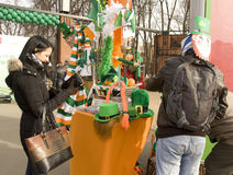 Tag St. Patricks in Moskau Lizenzfreies Stockfoto