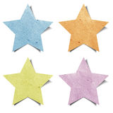 Tag star recycled paper craft Royalty Free Stock Photos
