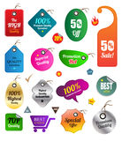 Tag sticker stamp set for sale promotion Royalty Free Stock Photo