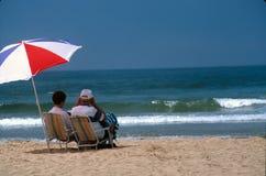Tag am Strand Lizenzfreie Stockfotografie