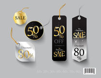 Tag template design. Discount sale promotion Royalty Free Stock Photography