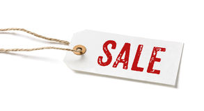 Tag with the text Sale Stock Image