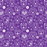 Tag toten Sugar Skull Seamless Vector Backgrounds Lizenzfreies Stockbild