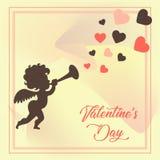 Tag und Engel Valentine's lizenzfreie abbildung
