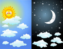 Tag und Nacht Stockbild