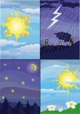 Tag und Nacht Lizenzfreie Stockfotos
