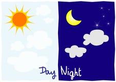 Tag und Nacht Stockbilder