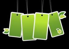 Tag verdes de Eco. Imagens de Stock Royalty Free