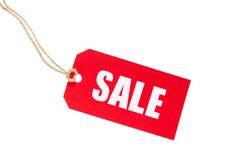 Tag vermelho da venda imagens de stock