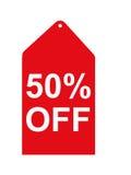Tag vermelho da venda Imagens de Stock Royalty Free
