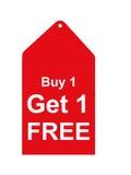 Tag vermelho da venda ilustração royalty free