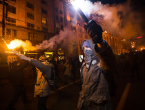 Tag von Würde und von Freiheit in Ukraine Stockfotografie