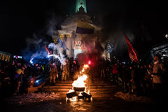 Tag von Würde und von Freiheit in Ukraine Stockbild