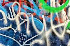 Tag wall Royalty Free Stock Photo