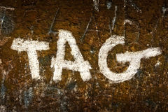 Tag on a wall Stock Photos