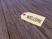 Tag for welcome - 3D render Royalty Free Stock Photography