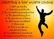 Tag wert das Leben Stockfoto