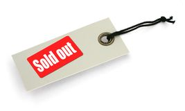 Tag With Sold Out Inscription Royalty Free Stock Images