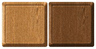 Tag wood. Wooden textured set web banners Royalty Free Stock Images