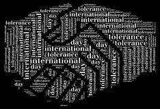 Tag or wor cloud international tolerance day related Stock Image