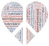 Tag or wor cloud international tolerance day related Royalty Free Stock Photo