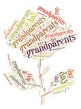 Tag or word cloud Grandparents day related in shape of rose Stock Image