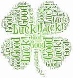 Tag or word cloud luck related Royalty Free Stock Images