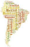 Tag or word cloud South America countries related Stock Photos