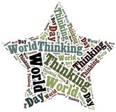 Tag or word cloud World Thinking Day related Royalty Free Stock Photo