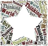 Tag or word cloud World Thinking Day related Royalty Free Stock Image