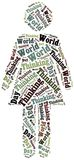 Tag or word cloud World Thinking Day related Stock Images