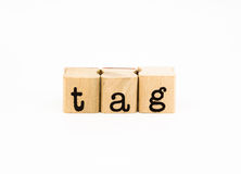 Tag wording isolate on white background Royalty Free Stock Photography