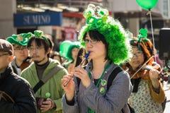 Tag Yokohama, Japan St. Patriks Lizenzfreies Stockfoto